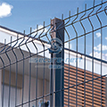 3D curved PVC metal welded wire mesh panel