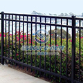 Flat top galvanized steel fence exporter