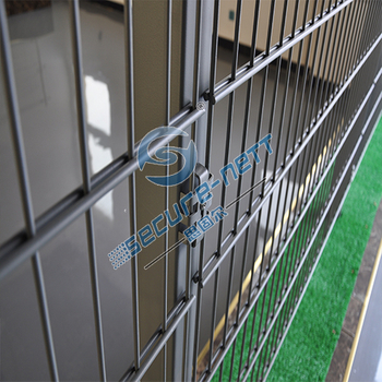 Double wire mesh fence for boundary wall